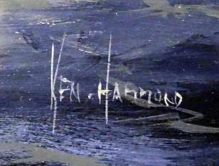 English Marine Watercolor Painting by Ken Hammond - Beige Landscape Painting by Hammond (artist)