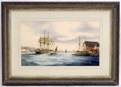 English Marine Watercolor Painting by Ken Hammond