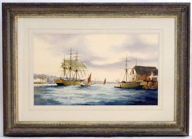 Hammond (artist) Landscape Painting - English Marine Watercolor Painting by Ken Hammond