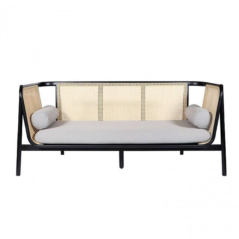 Used Cane Sofa For Sale In Bangalore: Hamp Sofa, Contemporary Woven Cane Sofa For Sale At 1stdibs