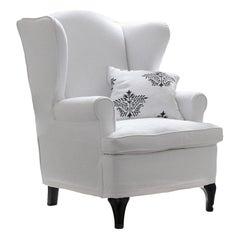 Hampton White Armchair