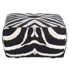 Hamptons.2 Pouf in Fabric by Roberto Cavalli Home Interiors