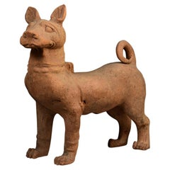 Han Dynasty, Chinese Pottery Standing Dog with Oxford Test