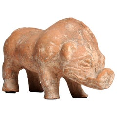 Han Dynasty Figure of a Pig