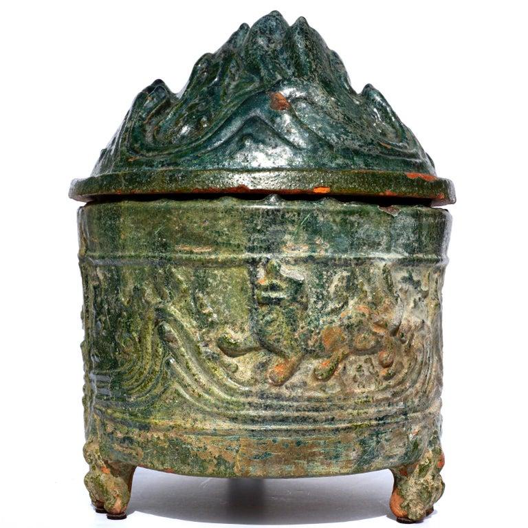 Chinese Han Dynasty Glazed Hill Jar For Sale
