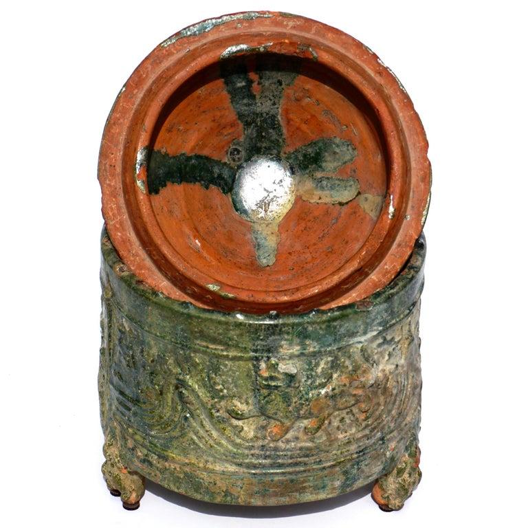 Han Dynasty Glazed Hill Jar In Good Condition For Sale In Dallas, TX