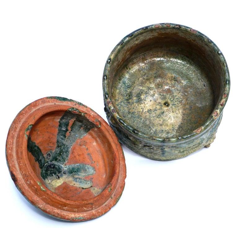 18th Century and Earlier Han Dynasty Glazed Hill Jar For Sale