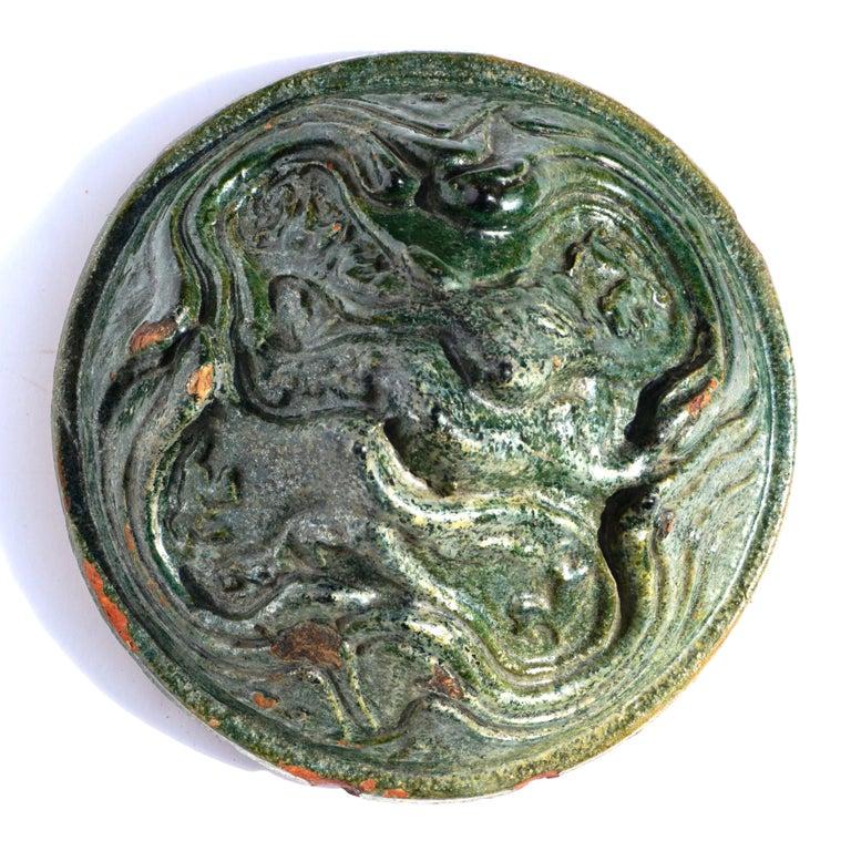 Han Dynasty Glazed Hill Jar For Sale 1