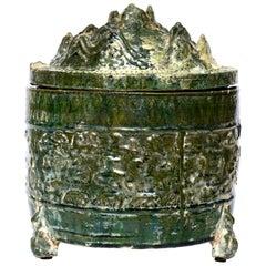 Han Dynasty Glazed Hill Jar