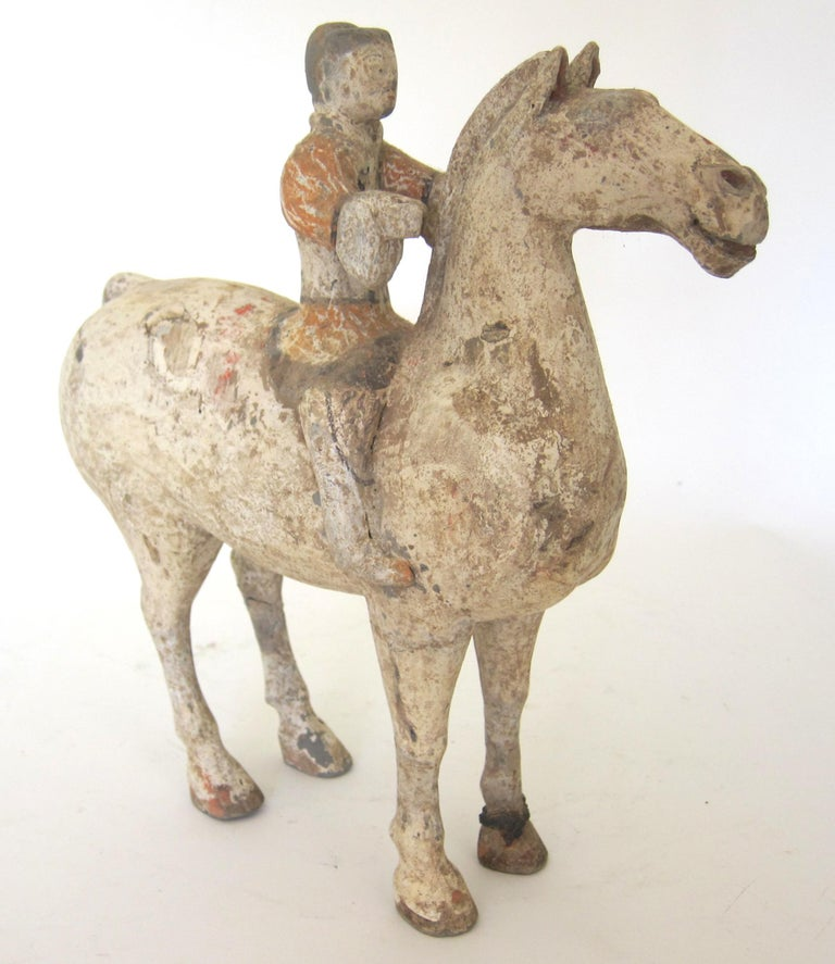 Han Dynasty Horse and Rider In Good Condition For Sale In Atlanta, GA