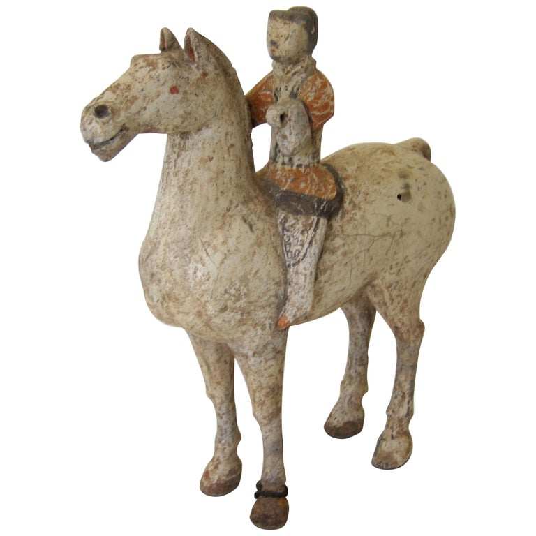 Han Dynasty Horse and Rider For Sale