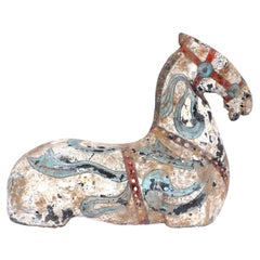 Han Dynasty Polychromed Pottery Horse