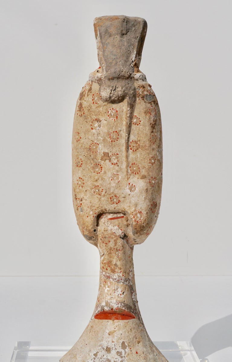 Pottery Han Dynasty TL Tested Terra-cotta  Court Lady Statue (206BC - 220AD) For Sale
