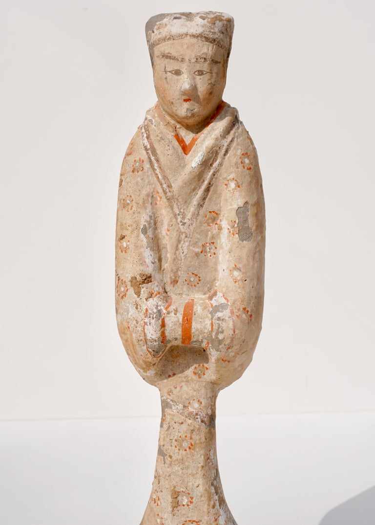 Han Dynasty TL Tested Terra-cotta  Court Lady Statue (206BC - 220AD) For Sale 1