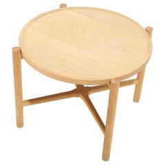 "Han J. Wegner: ""PP35"" Solid Oak Tray Table"