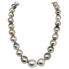 Hanadama Tahitian Pearl Necklace Women 14k Gold Certified