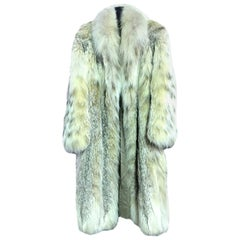 Hanae Mori Japanese Modern Designer Fourrure Full Length Lynx Fur Coat
