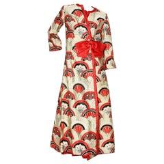 Hanae Mori Kimono Dress Set (1970's)