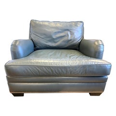 Hancock and Moore Extra Large Leather Nailhead Reading Chair