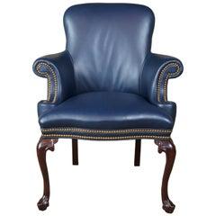 Hancock Moore Queen Anne Mahogany Leather Nailhead Garrett Office Library Chair