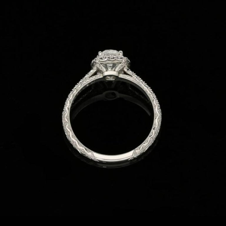 Women's or Men's Hancocks 0.90 Carat Old Mine Brilliant Cut Diamond and Platinum Cluster Ring For Sale