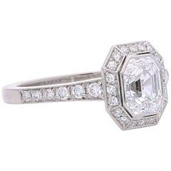 Hancocks 1.00 Carat Old Emerald-Cut Diamond Ring