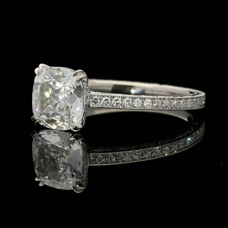 Contemporary Hancocks 1.02 Carat Cushion Cut Diamond Ring For Sale