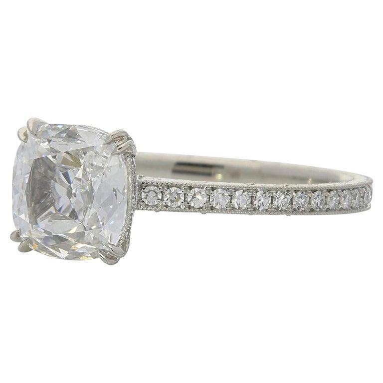 1.02-carat cushion-cut diamond ring