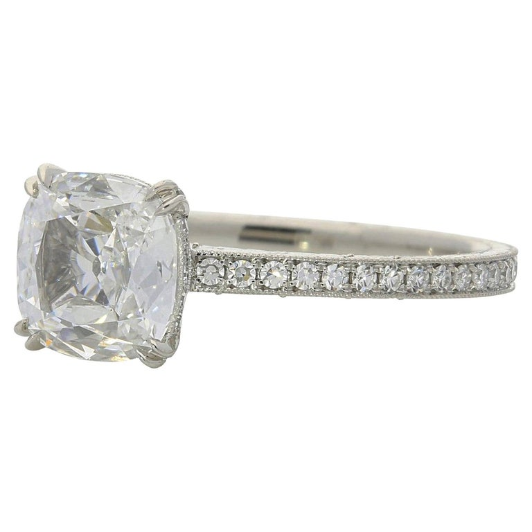 Hancocks 1.02 Carat Cushion Cut Diamond Ring For Sale