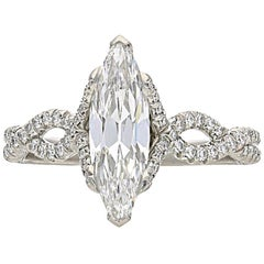 Hancocks 1.15 Carat Marquise Diamond and Platinum Ring