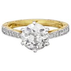 Hancocks 1.74carat Old European Brilliant Cut Diamond Solitaire Ring