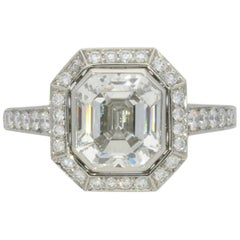 Hancocks 2.38 Carat Emerald-Cut Diamond and Platinum Ring