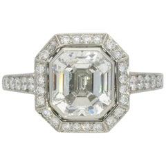 Hancocks 2.38 Carat Emerald-Cut Diamond and Platinum Ring