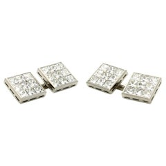 Hancocks 3.10 Carat French-Cut Diamond and Platinum Double Ended Cufflinks