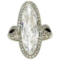 Hancocks 3.64 Carat Marquise Diamond Platinum Ring of D Colour and IF Clarity