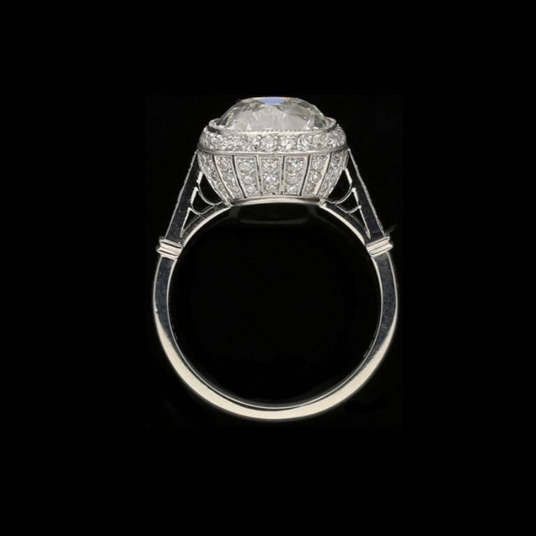 Hancocks 4.51 Carat Old Mine Brilliant Cut Diamond and Platinum Ring In New Condition For Sale In London, GB