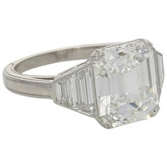 Hancocks 5.01 Carat Emerald-Cut Diamond and Platinum Ring