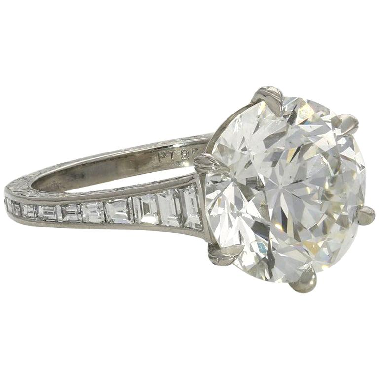5.07-carat old European brilliant-cut diamond ring