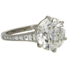 Hancocks 5.07 Carat Old European Brilliant Cut Diamond Ring