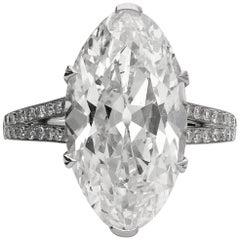 Hancocks 8.31 Carat Antique Moval Cut Diamond and Platinum Ring