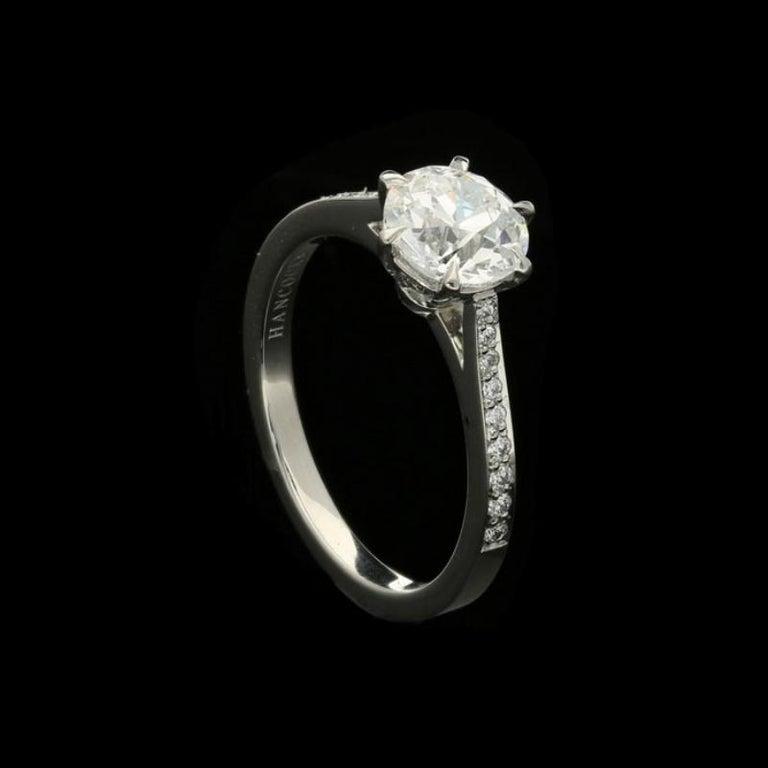 Hancocks Beautiful Old European Brilliant Cut Diamond Platinum Ring In New Condition For Sale In London, GB