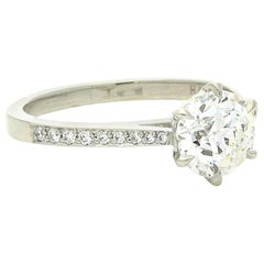Hancocks Beautiful Old European Brilliant Cut Diamond Platinum Ring