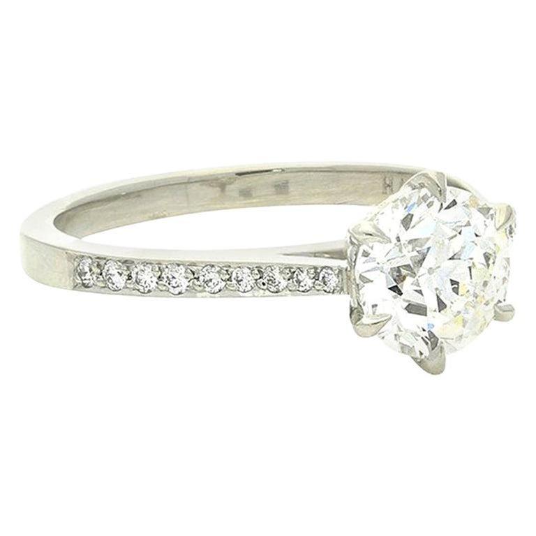 Hancocks Beautiful Old European Brilliant Cut Diamond Platinum Ring For Sale