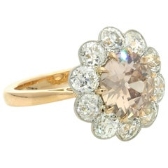 2.29ct Old Mine Fancy Pinkish Brown Diamond Rose Gold Cluster Ring by Hancocks