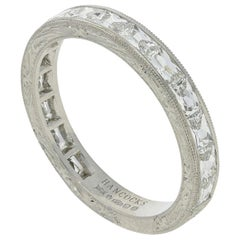 "Hancocks ""East or West"" French Cut Diamond Platinum Eternity Ring"