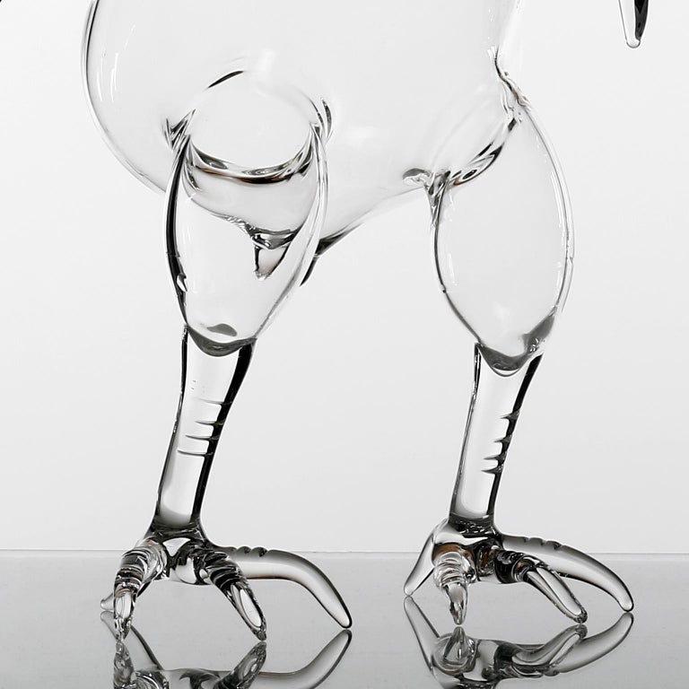 Modern Hand Blown Decanter from Gajna Wine Set by Simone Crestani For Sale