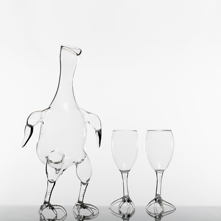 Other Hand Blown Decanter from Gajna Wine Set by Simone Crestani For Sale