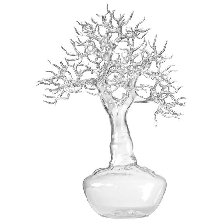 Hand Blown Glass Bonsai Sculpture 2017 #02 For Sale