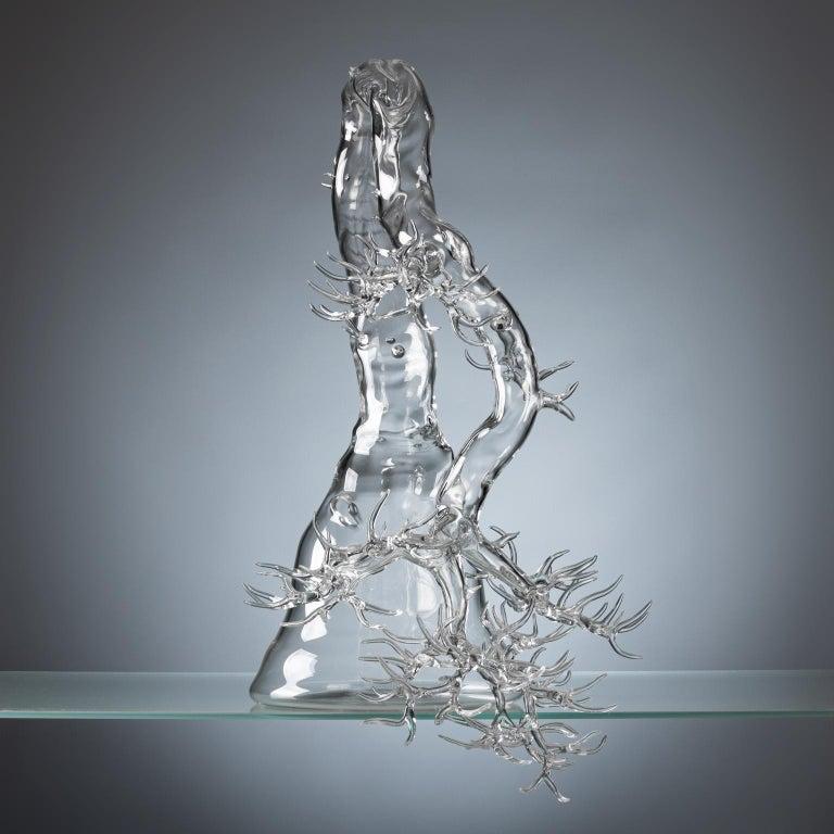 Modern Hand Blown Glass Bonsai Sculpture 2019 #01 For Sale