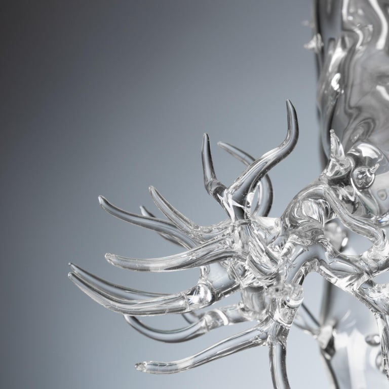 Italian Hand Blown Glass Bonsai Sculpture 2019 #01 For Sale
